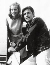 Alain Delon e Romy Schneider nei primi anni 60 foto n.1