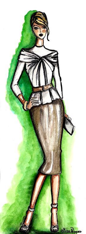 Dior, completo con blusa in pelle