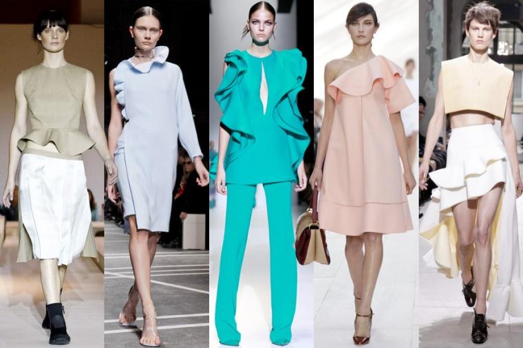 Volants, Ter et Bantine, Givenchy, Gucci, Chloé, Balenciaga