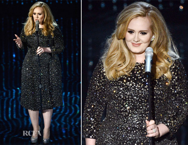 Adele-In-Burberry-2013-Oscars-Performance