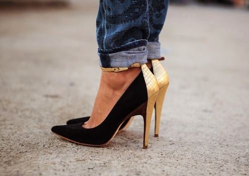 Jeans e tacchi