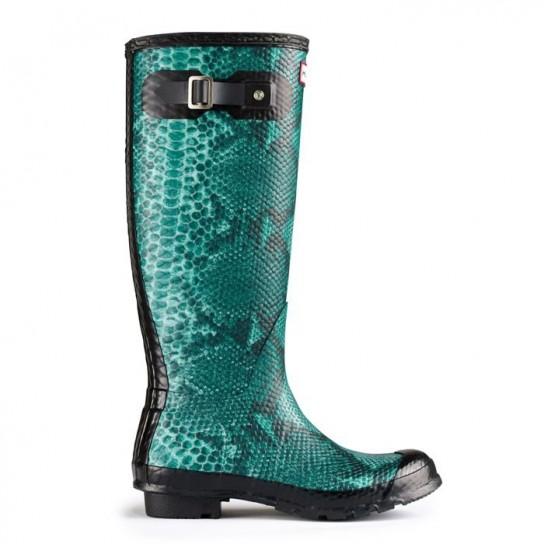 Hunter boots stampa rettile