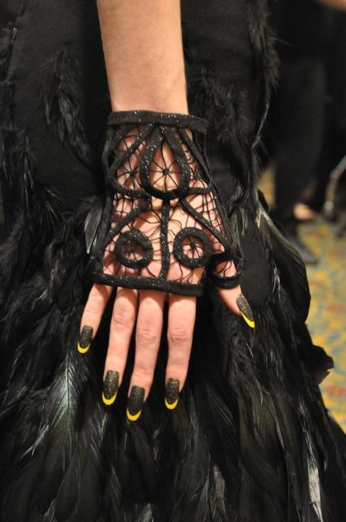 Lace, nails, plumage