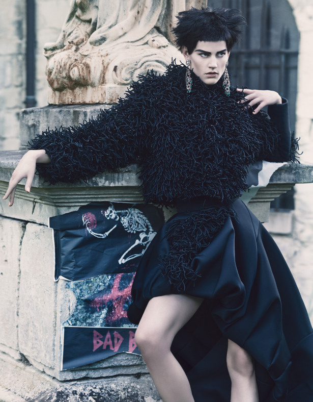 Saksia de Brauw by Craig McDean for W Magazine