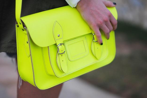 Satchel bag neon