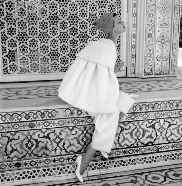 Barbara Mullen at the Red Fort, British Vogue, November 1956, by Norman Parkinson