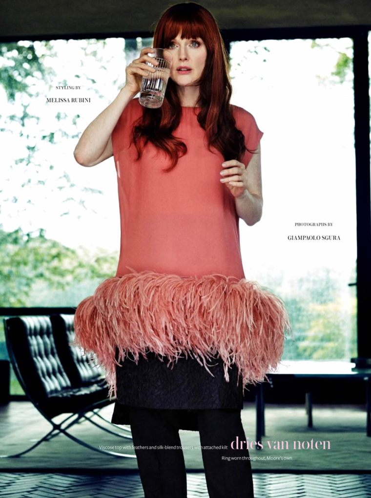 Julianne Moore by Giampaolo Sgura for InStyle UK