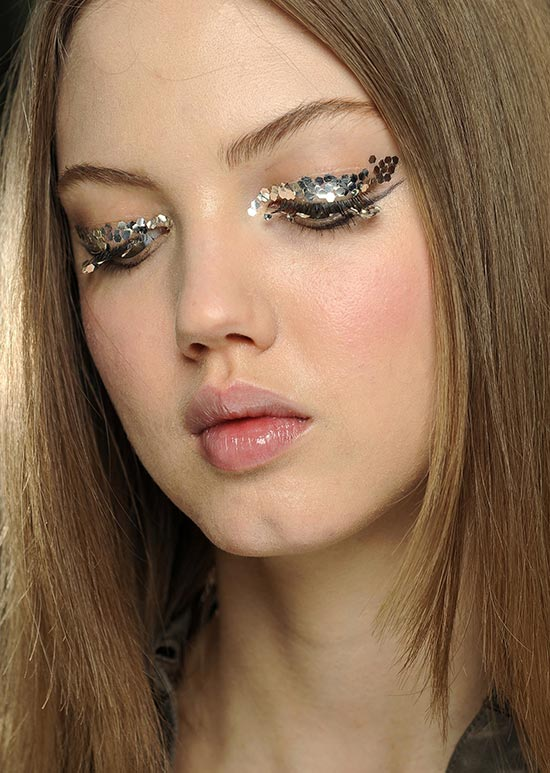 Chanel, Silver eye make.up, Autumn Winter 2013-14