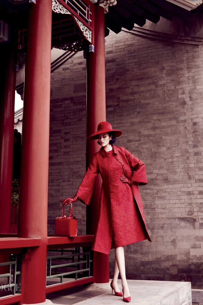 """Portrait of a lady""  Sui He for Vogue China, photography by Mario Testino,  styled by Anastasia Barbieri"