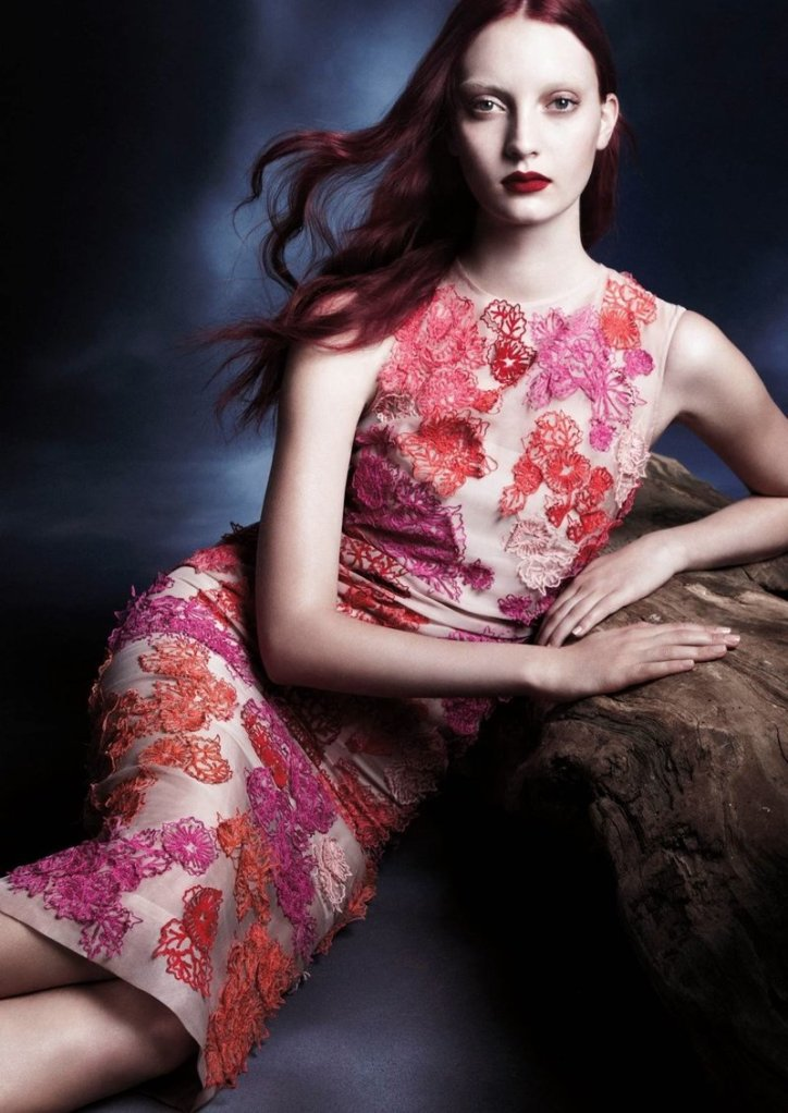 Codie Young for Monique Lhuillier Spring/Summer 2014 Campaign