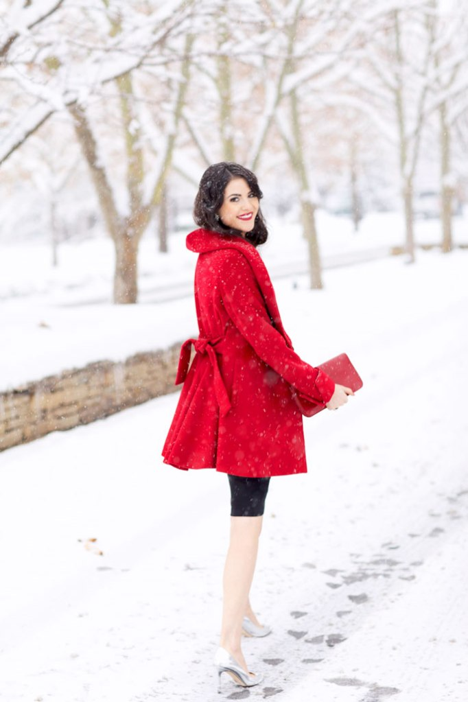 Holiday outfit, Red coat