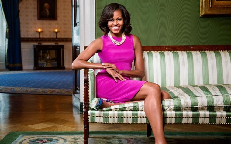 Michelle Obama fotografato alla Casa Bianca Green Room il da Ben Baker.