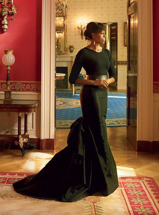 Michelle Obama fotografata da Annie Leibovit per Vogue aprile 2013, in Michael Kors