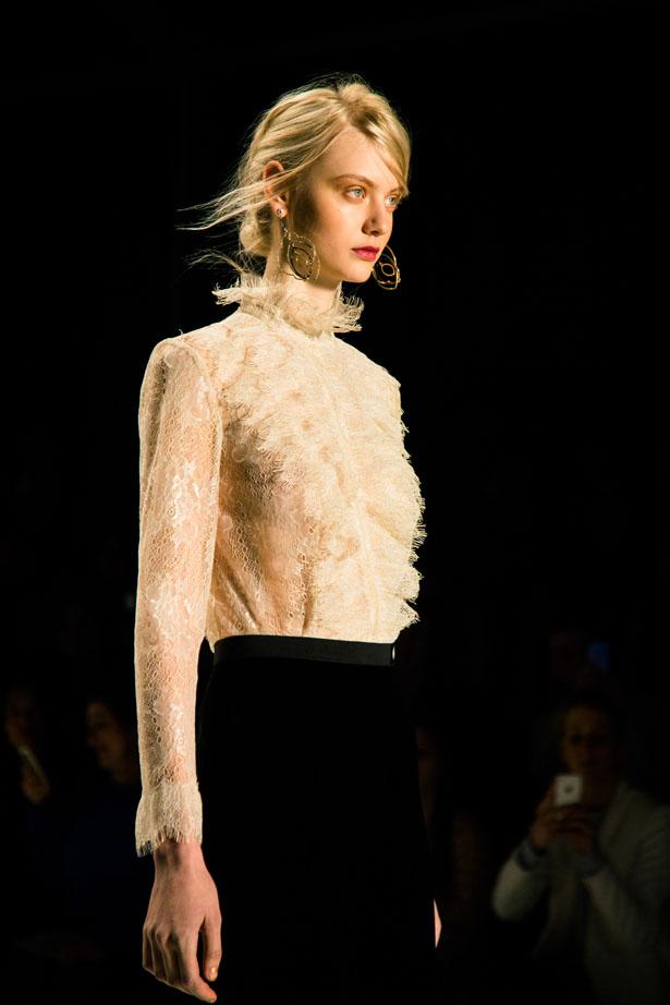 New York designer Tadashi Shoji fall winter 2014 collection show at NYFW